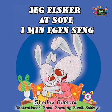 Danish-Bilingual-childrens-bunnies-book-I-Love-to-Sleep-in-My-Own-Bed-Shelley-Admont-cover