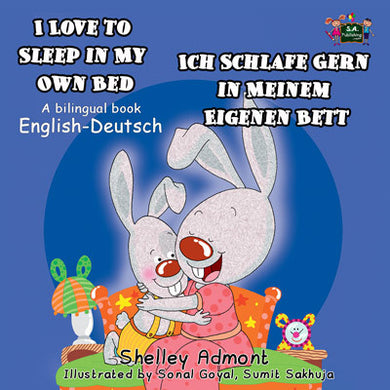 English-German-Bilingual-children's-bunnies-book-Shelley-Admont-KidKIddos-I-Love-to-Sleep-in-My-Own-Bed-cover