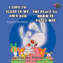 English-Romanian-Bilingual-Children's-picture-book-I-Love-to-Sleep-in-My-Own-Bed-cover