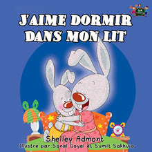 French-language-kids-bedtime-story-Shelley-Admont-KidKiddos-I-Love-to-Sleep-in-My-Own-Bed-cover