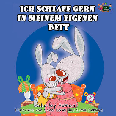 German-language-children's-bedtime-story-Shelley-Admont-I-Love-to-Sleep-in-My-Own-Bed-cover