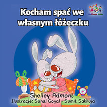 Polish-kids-bedtime-story-I-Love-to-Sleep-in-My-Own-Bed-Shelley-Admont-KidKiddos-cover