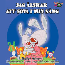 Swedish-language-children's-bedtime-story-I-Love-to-Sleep-in-My-Own-Bed-Shelley-Admont-cover