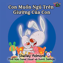 Vietnamese-language-bedtime-story-for-kids-Shelley-Admont-I-Love-to-Sleep-in-My-Own-Bed-cover