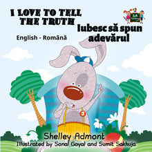English-Romanian-Bilingual-children's-picture-book-I-Love-to-Tell-the-Truth-Shelley-Admont-cover