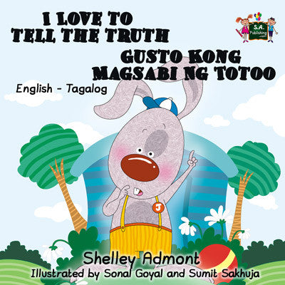 English-Tagalog-Bilingual-kids-bunnies-story-I-Love-to-Tell-the-Truth-Shelley-Admont-cover