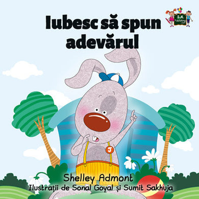 Romanian-language-picture-book-for-kdis-I-Love-to-Tell-the-Truth-Shelley-Admont-cover