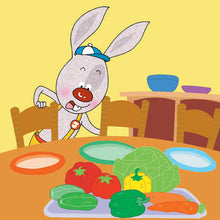 Portuguese-Portugal-language-kids-bunnies-book-I-Love-to-Eat-Fruits-and-Vegetables-Shelley-Admont-page4
