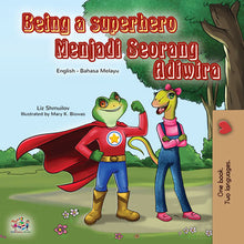 Malay-English-dual-language-book-for-kids-Being-a-Superhero-cover