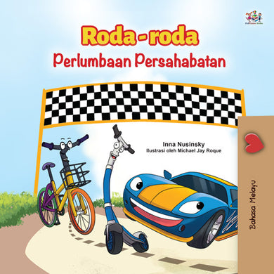 Malay-children_s-cars-picture-book-Wheels-The-Friendship-Race-cover