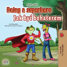 Polish-English-dual-language-book-for-kids-Being-a-Superhero-cover