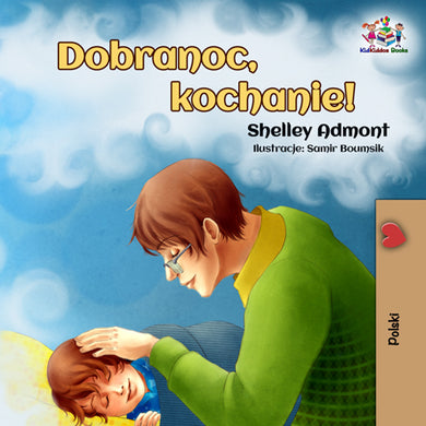 Polish-language-picture-book-kids-Goodnight,-My-Love-cover