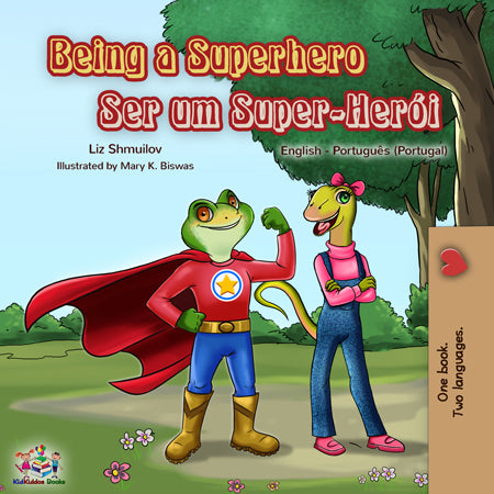 Portuguese-English-bilingual-book-for-kids-Portugal-Being-a-Superhero-cover