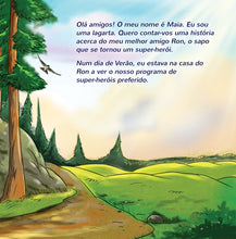 Portuguese-Portugal-language-childrens-bedtime-story-Being-a-Superhero-page1