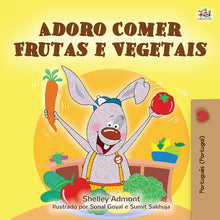 Portuguese-Portugal-language-kids-bunnies-book-I-Love-to-Eat-Fruits-and-Vegetables-Shelley-Admont-cover