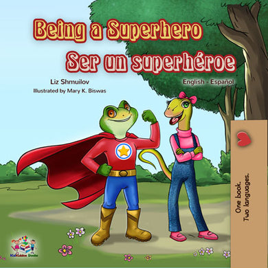 Spanish-English-Bilingual-children-book-Being-a-Superhero-cover
