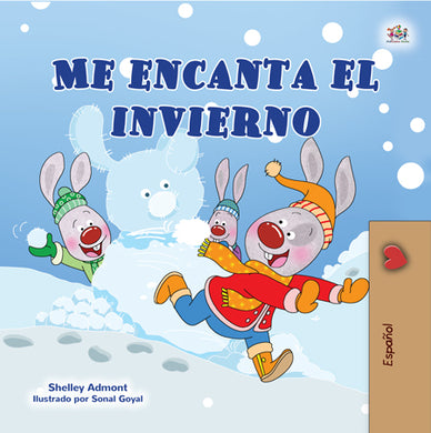 Spanish-book-children-weather-I-Love-Winter-Shelley-Admont-cover