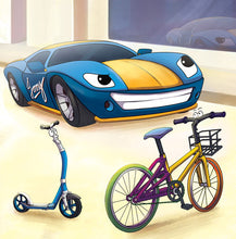 Spanish-Language-children's-cars-picture-book-Wheels-The-Friendship-Race-page1_1