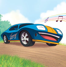 Spanish-Language-children's-cars-picture-book-Wheels-The-Friendship-Race-page5