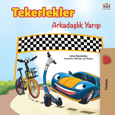 Turkish-Language-kids-cars-story-Wheels-The-Friendship-Race-cover