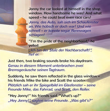 English-German-Bilingual-children-cars-book-Wheels-The-Friendship-Race-page1_2