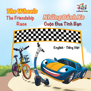English-Vietnamese-Bilingual-kids-bedtime-story-Wheels-The-Friendship-Race-cover