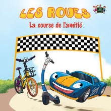 French-children's-picture-book-about-cars-Wheels-The-Friendship-Race-cover