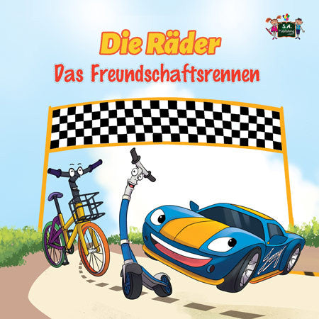 German-Language-kids-cars-story-Wheels-The-Friendship-Race-cover