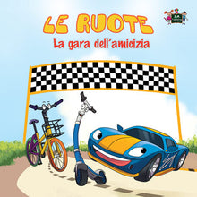 Wheels-The-Friendship-Race-Italian-language-kids-cars-picture-book-cover