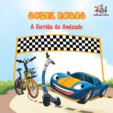 Wheels-The-Friendship-Race-Portuguese-children's-cars-picture-book-cover