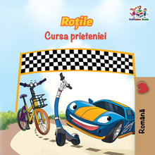 Romanian-children's-cars-picture-book-Wheels-The-Friendship-Race-cover