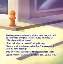 Romanian-children's-cars-picture-book-Wheels-The-Friendship-Race-page1_2