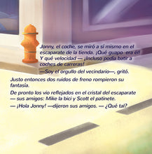 Spanish-Language-children's-cars-picture-book-Wheels-The-Friendship-Race-page1_2