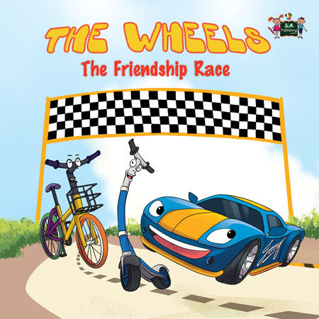 Wheels-The-Friendship-Race-children's-picture-cars-book-English-Inna-Nusinsky-cover