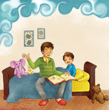 Romanian-language-children's-picture-book-Goodnight,-My-Love-page1