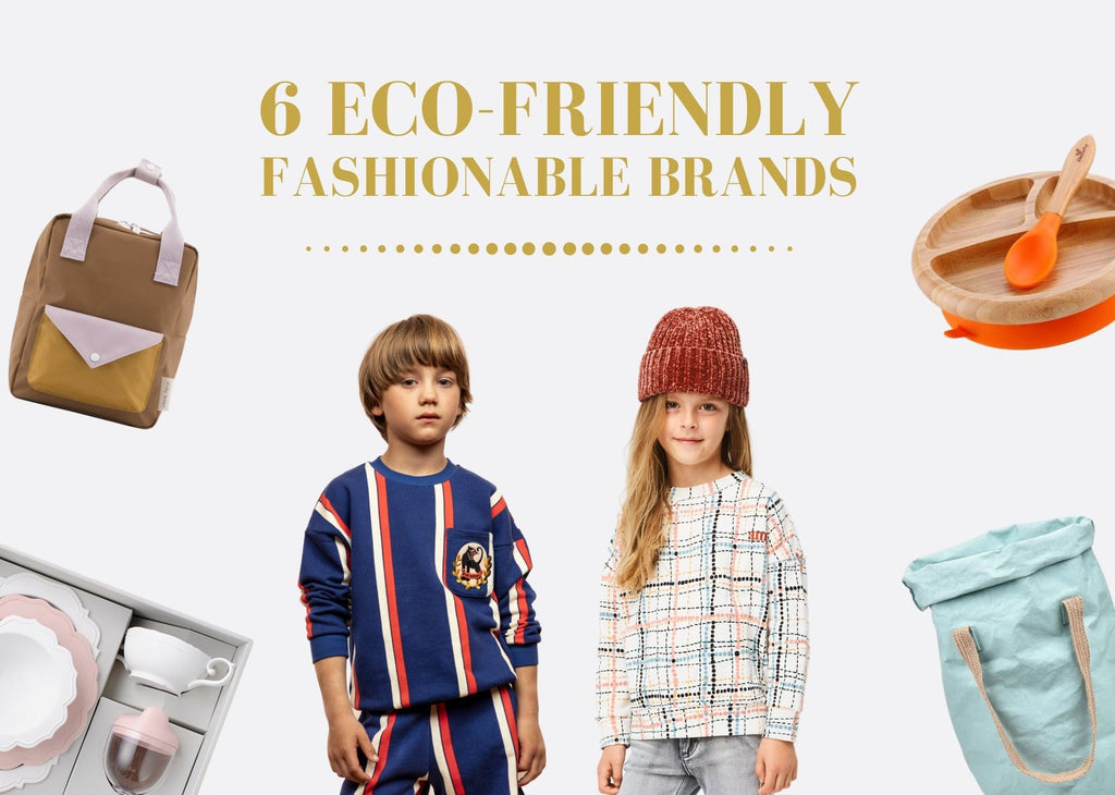 6 Eco-friendly fashionable brands blog post cover by Vancouver kid's wear boutique Aux Pays Des Chouchous.