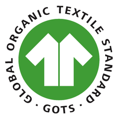 GOTS-certified logo. Also know as Global Orangic Textile Standard-certified.
