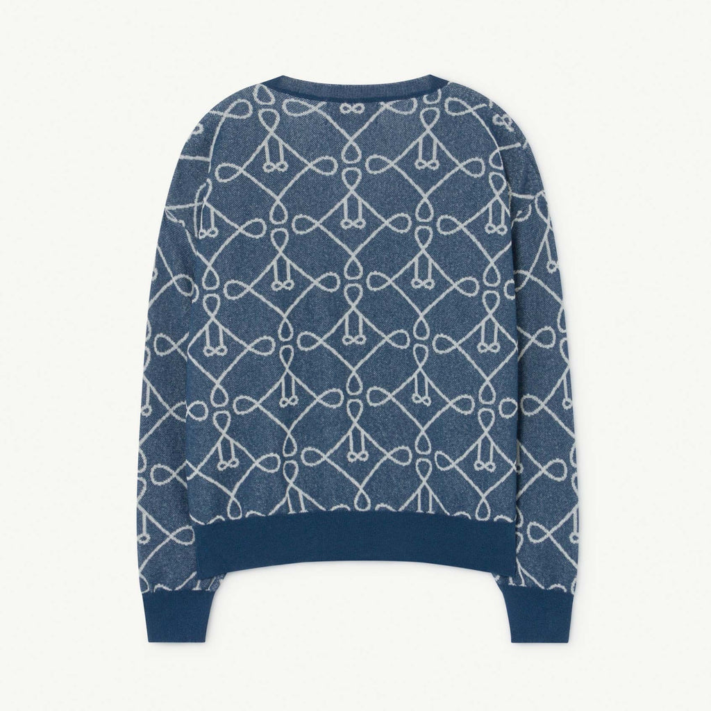 Blue Graphic Print Cardigan