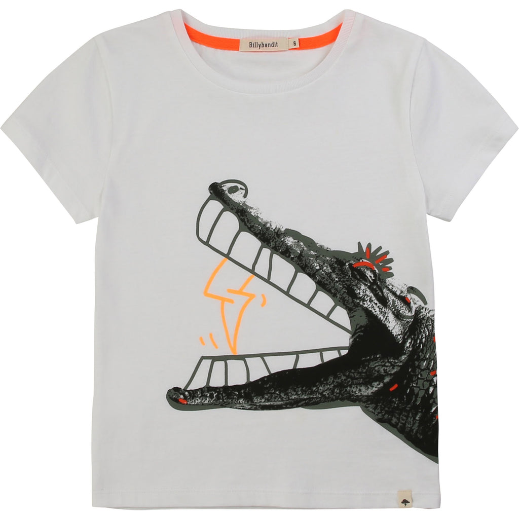 Boy White Cotton T-Shirt