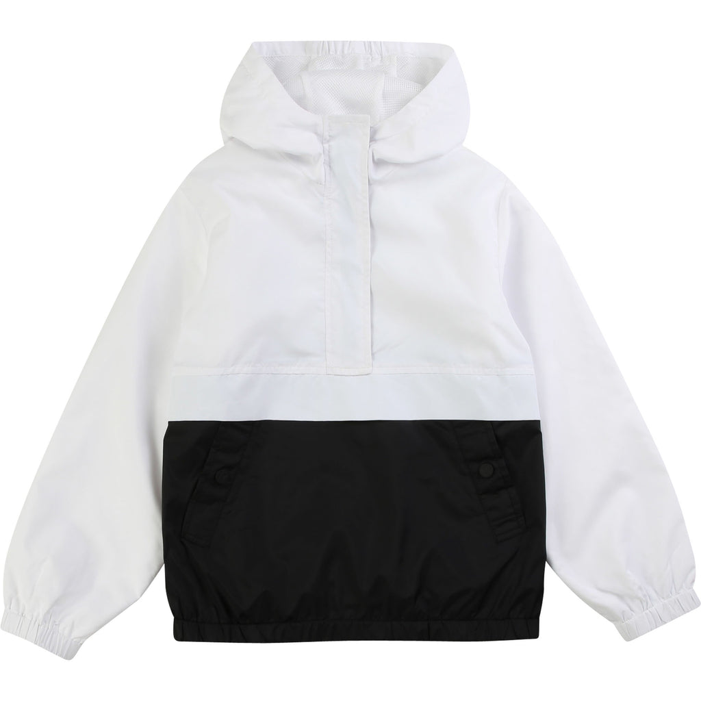 Boy White Windbreaker Jacket