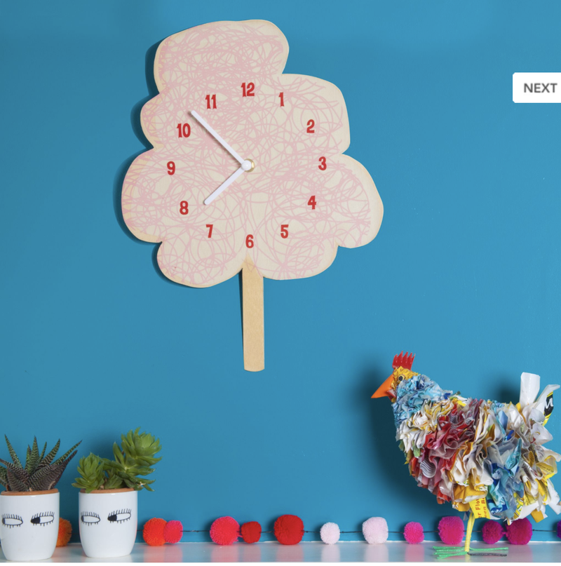 Glow In The Dark Cotton Candy Clock