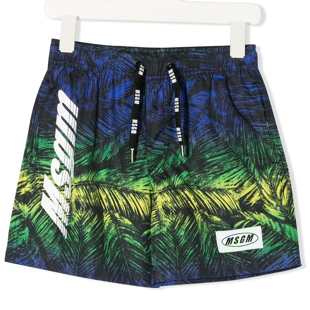 Foliage-print Logo Swimming Shorts
