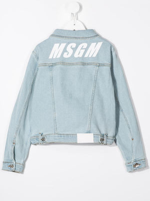 Long Sleeve Denim Logo Jacket
