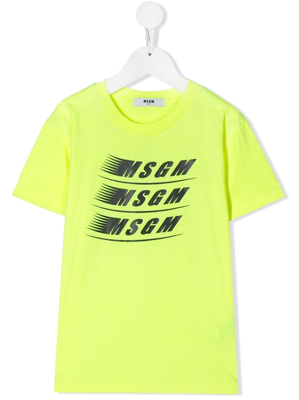 MSGM Yellow T-shirt with dashing logo
