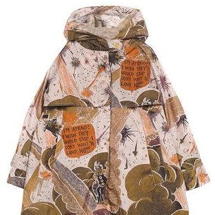 Stylish designer jacket for boys and girls, with a distinctive fall season colours, and an art inspired design.