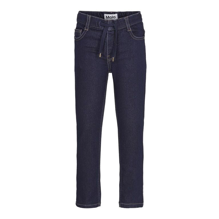 Regular fit jeans designed by the Danish brand Molo, with a elasticated drawstring waistband.