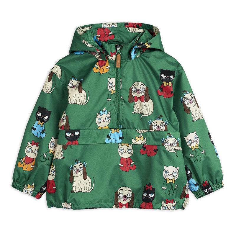Green Cat & Dog Print Jacket