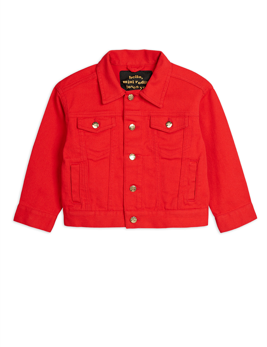 Girls Red Denim Jacket