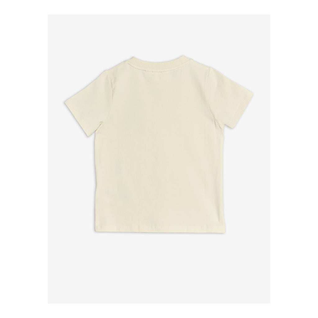 A fun ivory cotton T-shirt with an adorable vintage style teddy bear embroidered at the front.