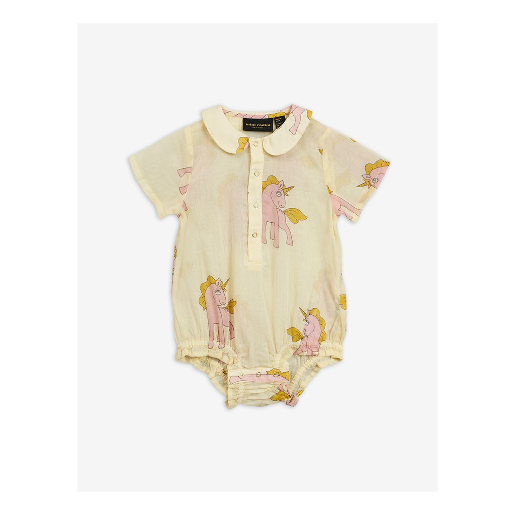Yellow Cotton Shortie Bodysuit